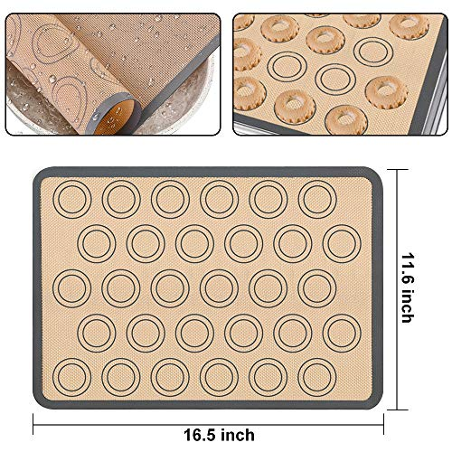 Silicone Baking Set, 31PCS Nonstick Silicone Bakware Set with Donut Pans,Silicone Muffin Pan, Bread Loaf Mold,Cupcake Shape Baking Molds, Macaron Cookie Sheet Baking Mats for Bake Lovers & Beginner