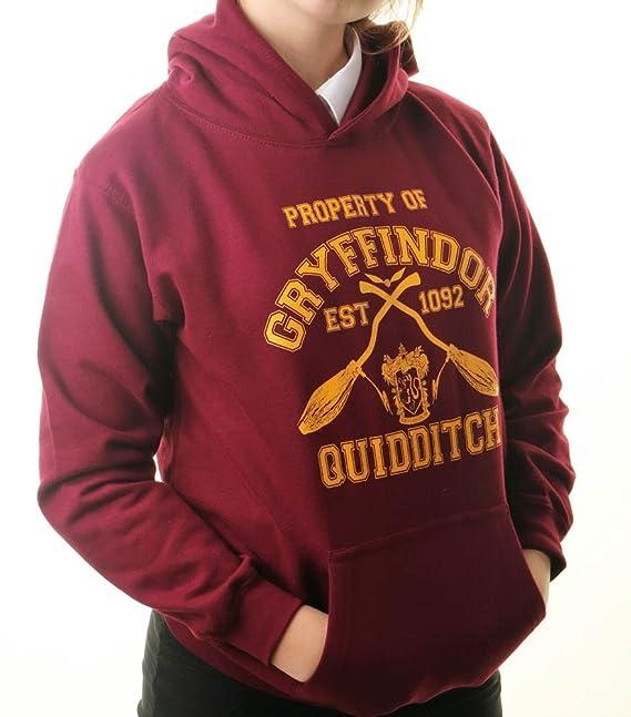 Sudadera con capucha, inspirada en Gryffindor Quidditch de Harry Potter, tallas para adulto rojo Marron Talla única: Amazon.es: Ropa y accesorios