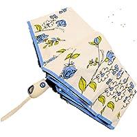 Paraguas Plegable automático Flor de Cereza: Dale una Ola de Citas Dulces (Azul)