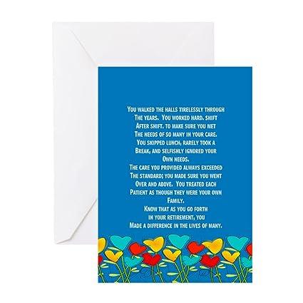 Amazon Cafepress Retired Nurse Greeting Cards Greeting