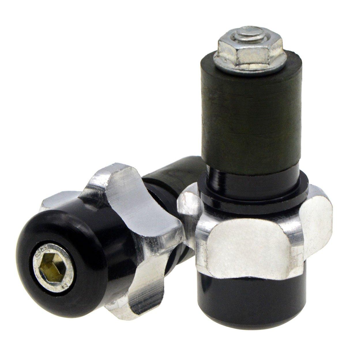 Aluminum Handlebar Plugs Weights Grip Sliders Silver ZYHW Anti-Vibration Bar Ends