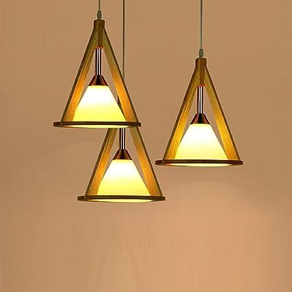 AMZH Lampada a sospensione classica moderna a tre tende da cucina ...
