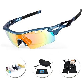 6134f638453 IKuaFly Mtb Cycling Glasses 5 Lents Lightweight UV400 Protection Flexible Sports  Sunglasses for Men Women