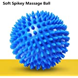 Cammate Spiky Massage Balls - Foot massager Exercise Lacrosse Balls with Spike - Self Trigger Point Roller for Myofascial Release and Plantar Fasciitis - Improve Reflexology and Mobility - Blue - 1Pack