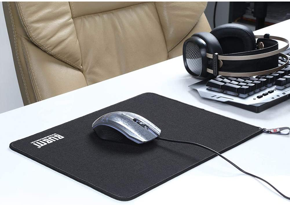 FF/&XX Extended Gaming Mouse Pad,Thick Waterproof Keyboard Pad Mouse Mat Durable Stitched Edges Large Desk Mat for Laptop Computer /& Pc-Black 90x35cm 35x14inch