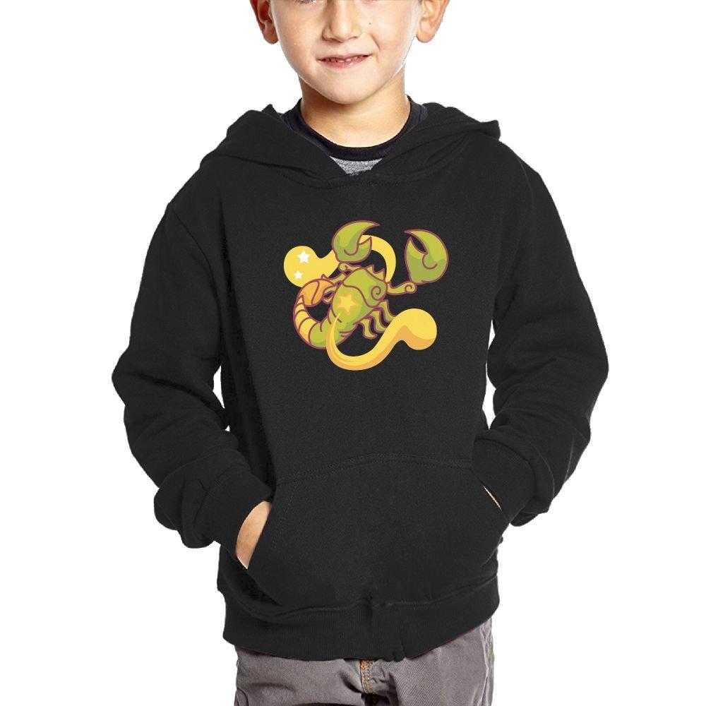 Small Hoodie Scorpio Boys Casual Soft Comfortable Sweatshirts Pocket Hoodies