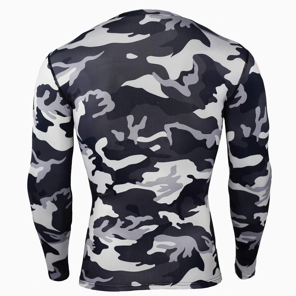 Abbigliamento Sportivo da Allenamento Mimetico QIANZHIHE T-Shirt Uomo T-Shirt Estiva A Maniche Corte per Abbigliamento Sportivo da Allenamento con Maniche Corte