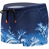 Dolloress Men Swimming Trunks Beach Swimming Shorts Briefs Drawstring Bathing Suit Casual Hawaii Style for Vocation…