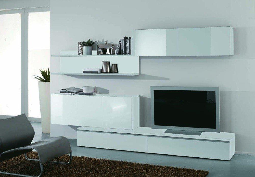Moderne wohnwand wei hochglanz lackiert g nstig kaufen - Moderne wohnwand weiss hochglanz ...