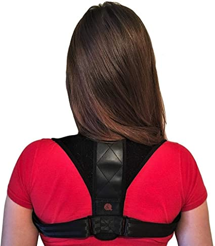 Shoulder /& Upper Back Pain Relief JINRQ Posture Corrector for Women Men Perfect for Spinal Neck Effective and Comfortable Posture Brace Support