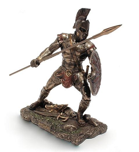 Achilles Greek Hero of the Trojan War Cold Cast Bronze 9 Inch Tall