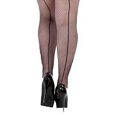 18f8ec6f2c96e Plus Size Sexy retro 40s/50s/Burlesque style seamed fishnet tights Size XXL:  Amazon.co.uk: Clothing