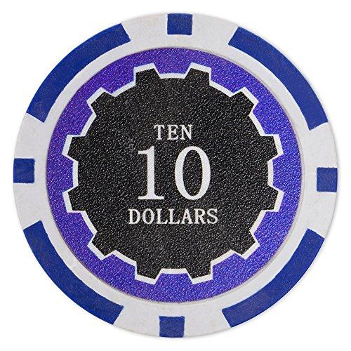 - Brybelly Eclipse Poker Chips Heavyweight 14-gram Clay Composite - Pack of 50 ($10 Dark Blue)
