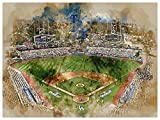 ATLAS Los Angeles Dodgers Poster Watercolor Art Print 12x16 Wall Decor