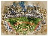 Los Angeles Dodgers Poster Watercolor Art Print 12x16 Wall Decor