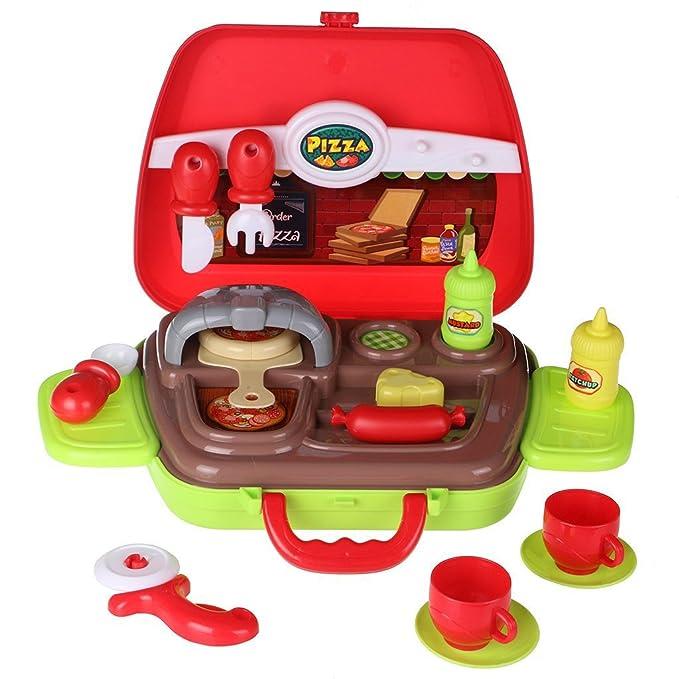 10 opinioni per SFL 14 Pezzi Pizza Cottura Riproduci Prima Educazione Giocattolo per i Bambini