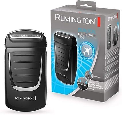 Remington Dualfoil TF70 Afeitadora de Láminas de Viaje, Doble Lámina, Uso en Seco, Funciona con Pilas, Negro: Amazon.es: Salud y cuidado personal
