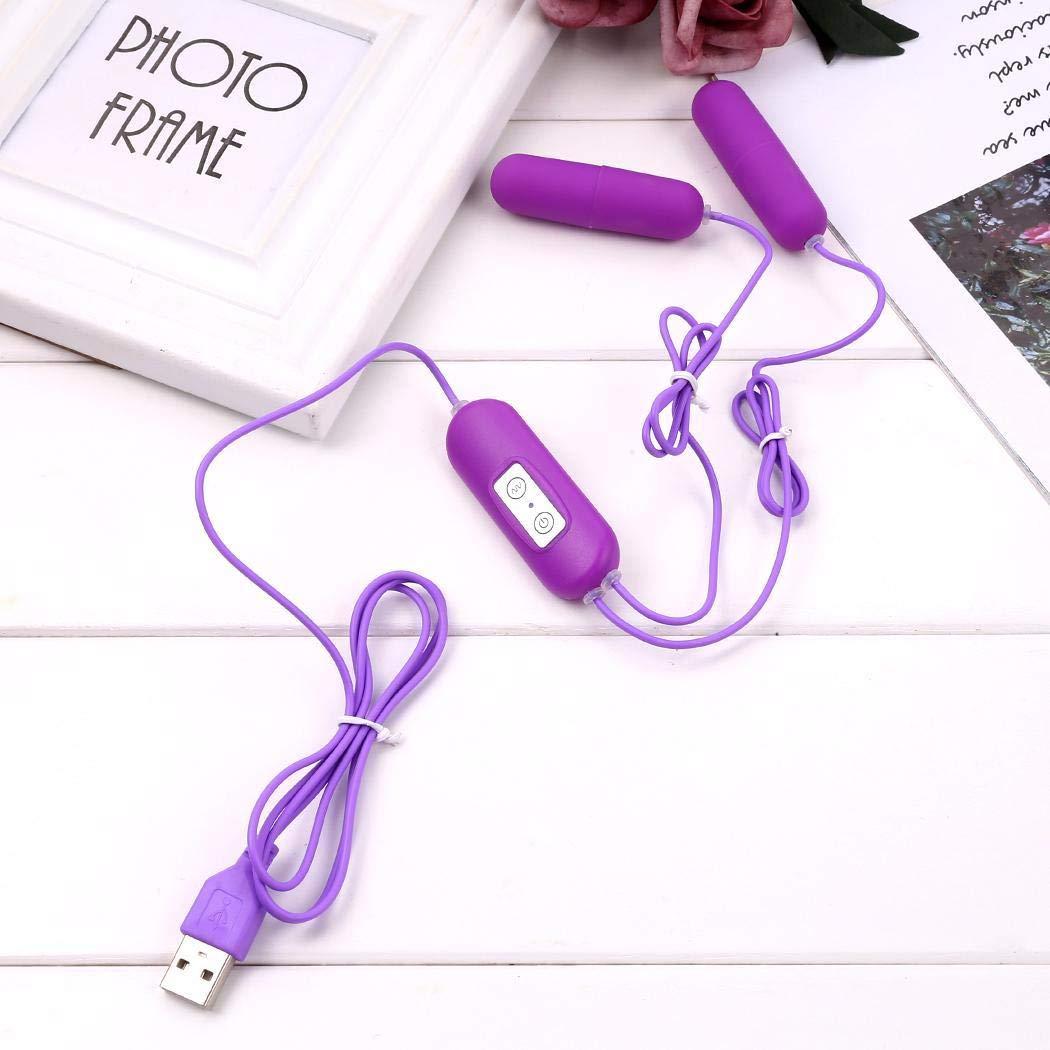 Acecoree Vibrador Huevo Sexual para Mujer punto G punto Mujer USB Impermeable Double Jumping Juguete Sexual 08c1fe
