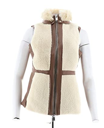 277ba46ddd Gili Faux Leather Shearling Vest Caramel Natural 16 New A297929 at ...