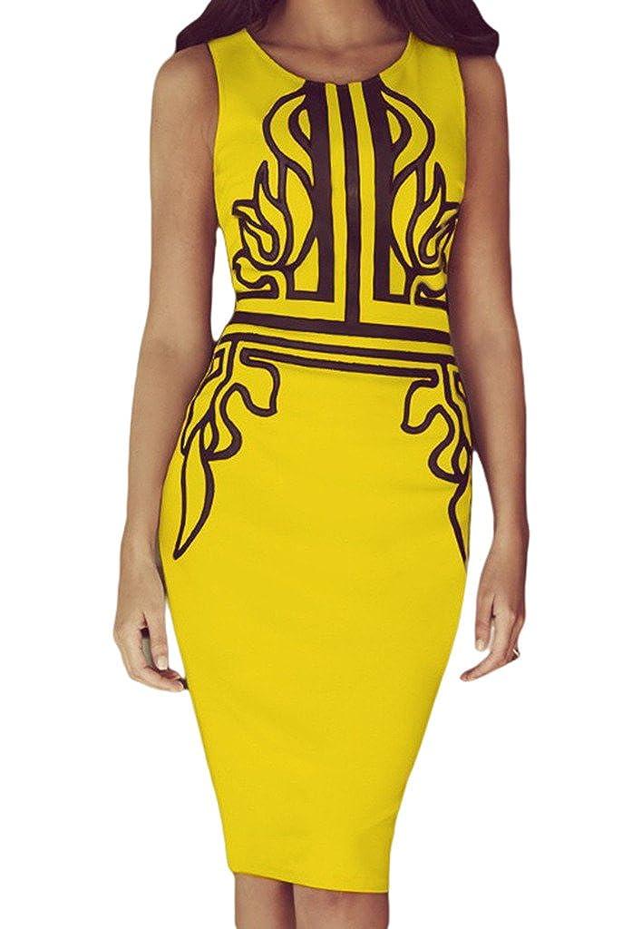 COMVIP Sommer Damen Kleid Business kleid Bodycon Kleid Etuikleid Schlauch kleid Knielang In 5 Größen COMVIFN287