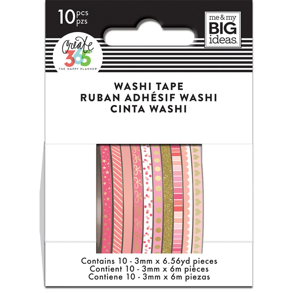 me & my BIG ideas WTSS-07 The Happy Planner Mini Washi Tape, Pink Hues