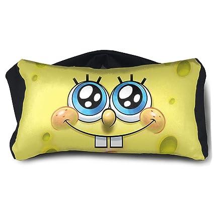 Amazoncom Hertmake Cute Spongebob Sleep Mask Travel Pillow
