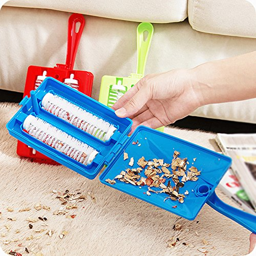 Random Color Plastic Hand Held Double Brushed Sweeper Collector Tool Carpet Table Bed Car Seat Dust Single Brush Dirt Crumb Collector