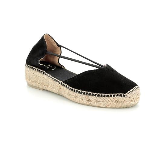 ac536880ef806 Toni Pons Erla Womens Espadrilles 6 39 Black Suede  Amazon.co.uk  Shoes    Bags