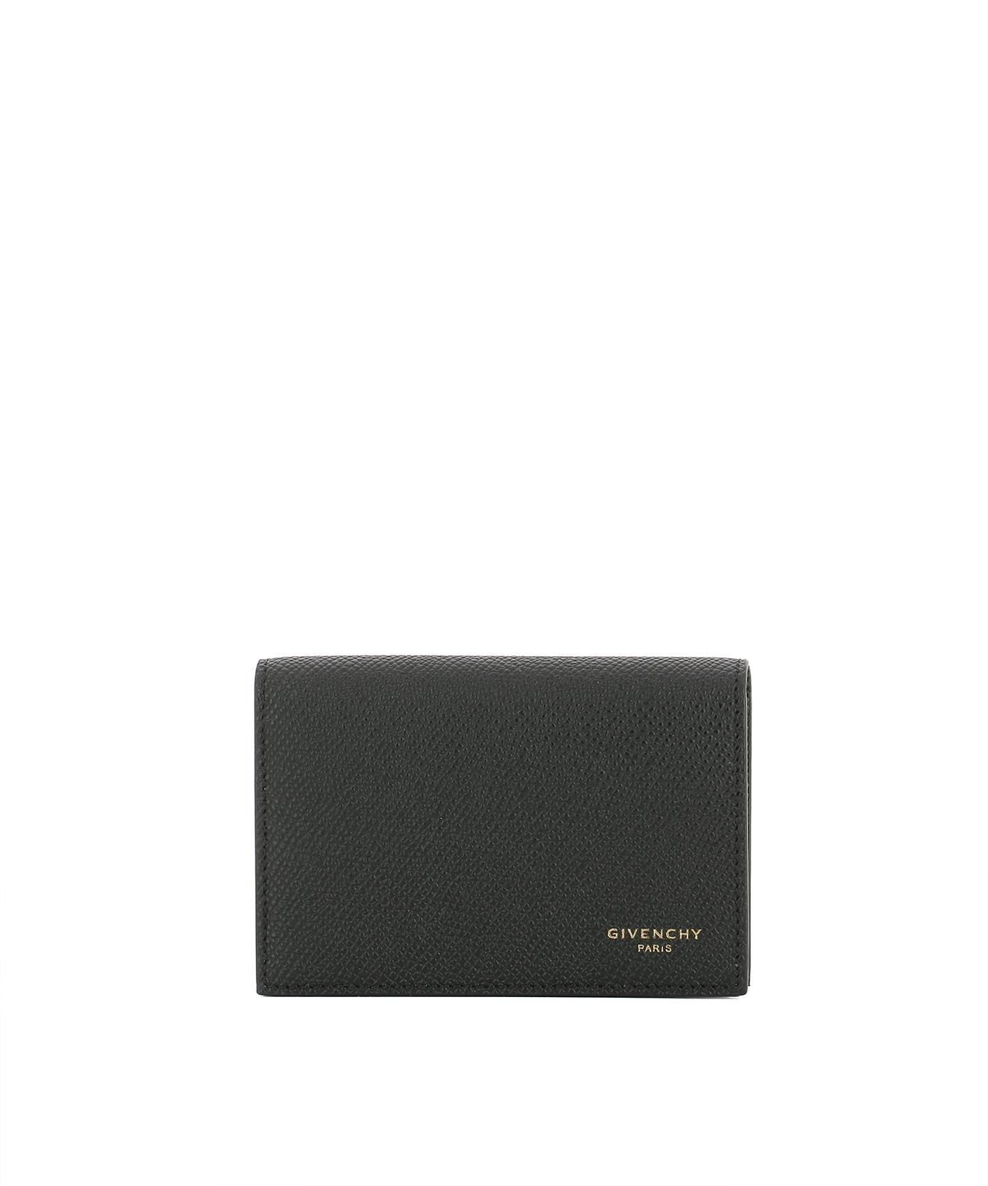 Givenchy Men's Bk06018121001 Black Leather Wallet