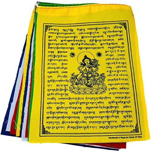 White Tara Tibetan Prayer Flags From Nepal Set of 10 - Flags Prayer Nepal