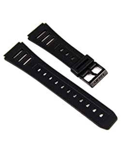 Casio 70377663 20mm Replacement Watch Band for JC-10, JC-11, W-56, and W-740, Black