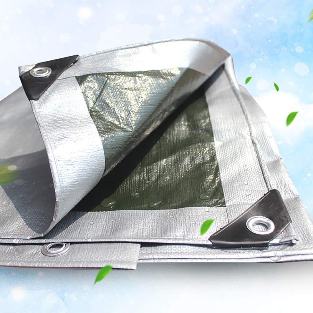 HQCC HQCC HQCC Plane Wasserdichte Bodenplane umfasst Plane Polythene PE Sonnenschutz-LKW Gewächshaus Isolierter Schuppenstoff Armee grün-Silbergrau, 180g   m² (größe   3x4M) B07NTJZM8K Zeltplanen Gewinnen Sie das Lob der Kunden 99eaad