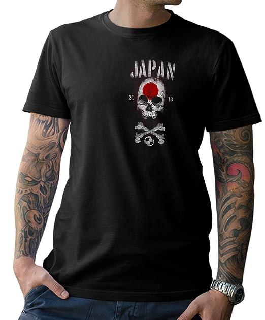 NG articlezz Camiseta de Hombre Japan Calavera con Frontal Y Estampado en la Espalda Copa del Mundo de Fútbol 2018 s-5xl: Amazon.es: Ropa y accesorios