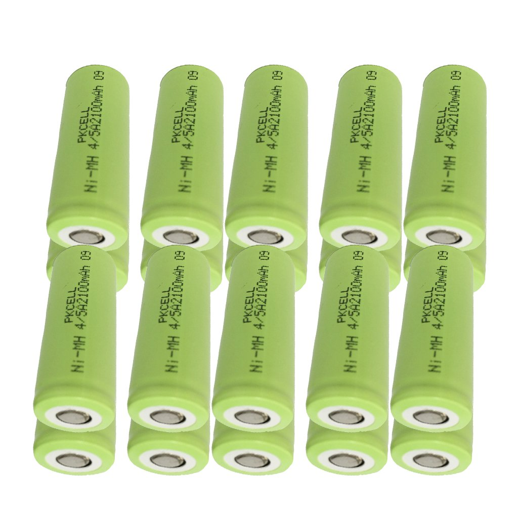 4/5A size Rechargeable Batteries 1.2v Count (20Pcs 2100mAh, Green)
