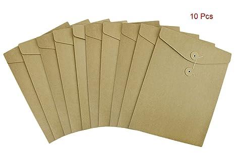 Amazon.com: Bolsas de papel kraft tamaño A4, 10 unidades ...