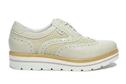 NERO GIARDINI Francesine fondo alto crema 7212 scarpe donna mod. P717212D