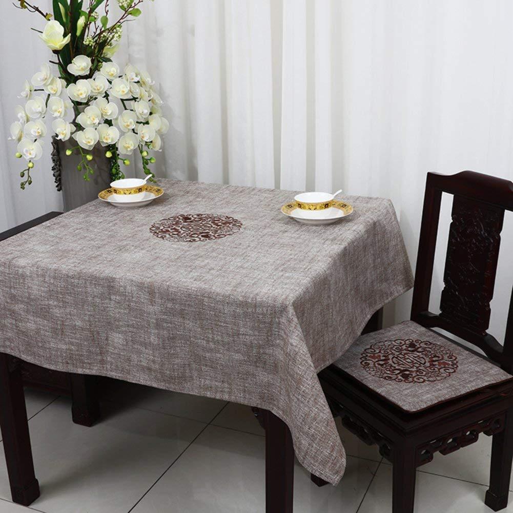 QYM テーブルクロス、テーブルクロス、亜麻、テーブルクロス (Color : B, サイズ : 150x150cm(59x59inch))   B07SCWF31G