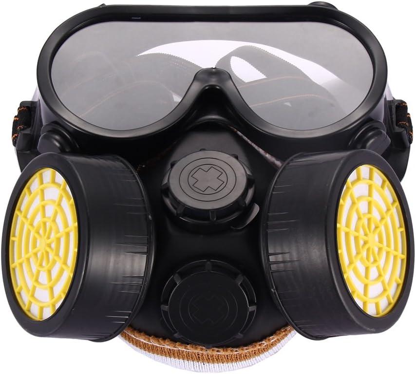 Máscara con respirador de uso industrial para protección contra polvo, pintura en aerosol y gases químicos