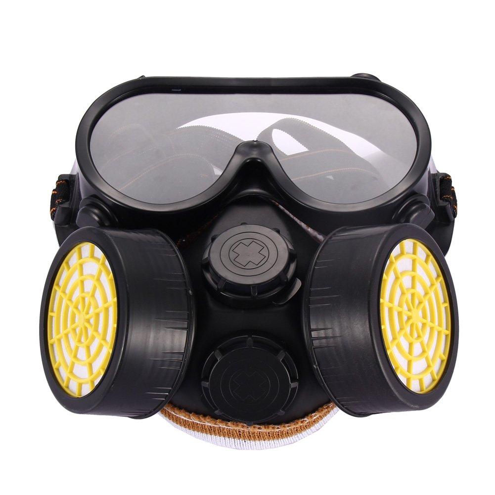 Anti-polvo Spray de pintura INDUSTRIAL quí mica Gas respirador má scara gafas Set Halloween disfraz vanpower