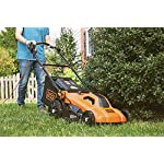 BLACK+DECKER Lawn Mower, Corded, 13 Amp, 20-Inch (BEMW213) 18 Push mower comes with 13 Amp motor to power through tall grass Electric mower can adjust height with 6 settings for precise cutting specifications Push lawn mower comes with easy Fold handle for convenient storage when not in use