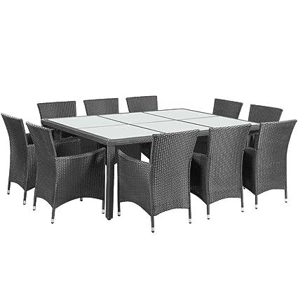 Amazon.com: BLXCOMUS Outdoor Dining Set 21 Pieces Poly ...
