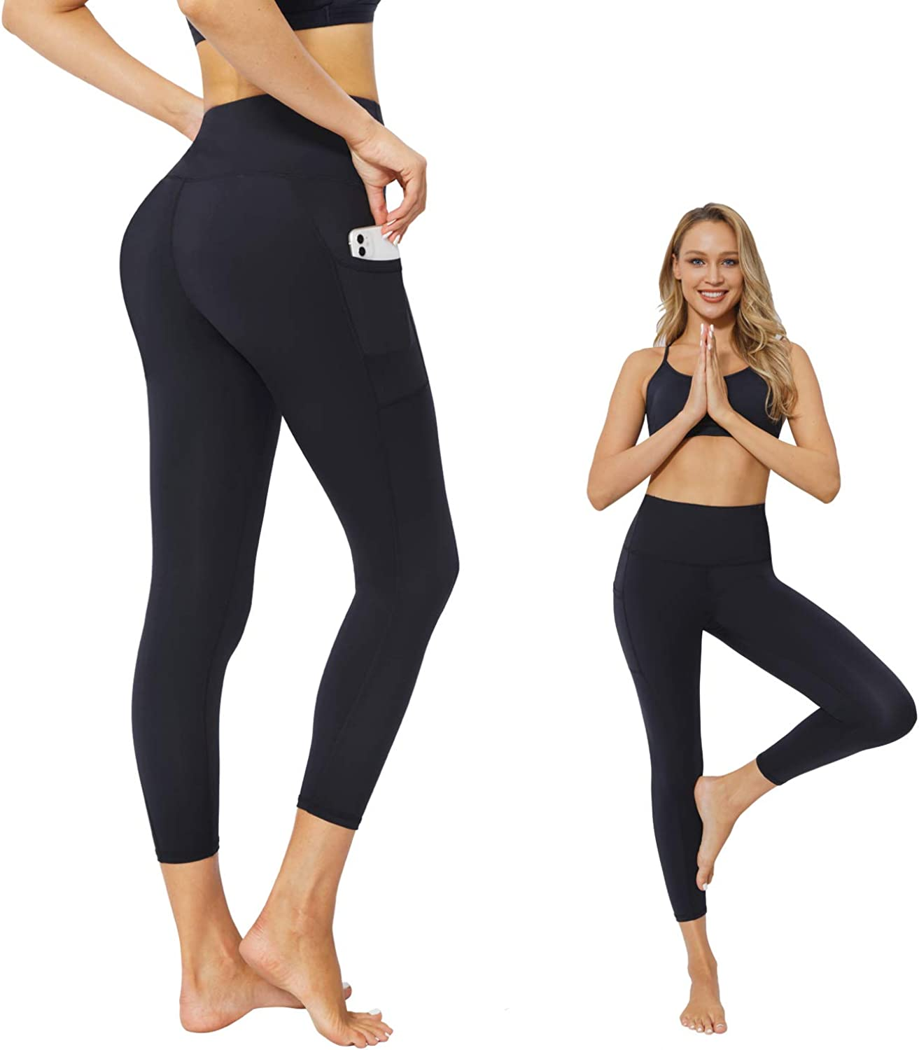 JEPOZRA High Waist Yoga Pants for Women Workout Leggings Pants Stretch Compression Pants