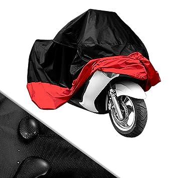 7505c89df91 Funda para Moto Cubierta de Moto Protector Poliéster Impermeable  Reflectante Motocicleta Anti-Polvo Lluvia Nieve