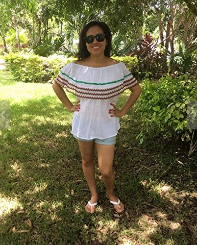 Campesina mexican tricolor blouse