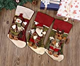 Codream 3D Cartoon Cotton and Linen Stockings, Santa Claus