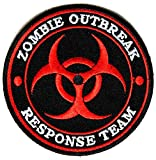 "Embroidered Iron On Patch - Zombie Outbreak Response Team Red 3.5"" Patch"