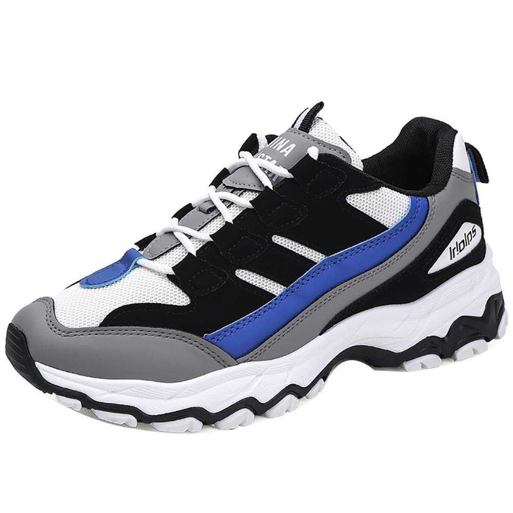 HOSOME Men Outdoor Sports Shoes Casual Shoes Lightweight Trail Running Walking Fitness Jogging Cross Training Gym Shoes Blue