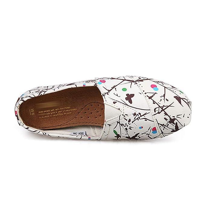De las mujeres Zapatos de lona, Baja ayuda Respirable Camuflaje Manga Zapatos perezosos, Ocio Suave Zapatos planos, Madre embarazada, Dar un paseo, ...