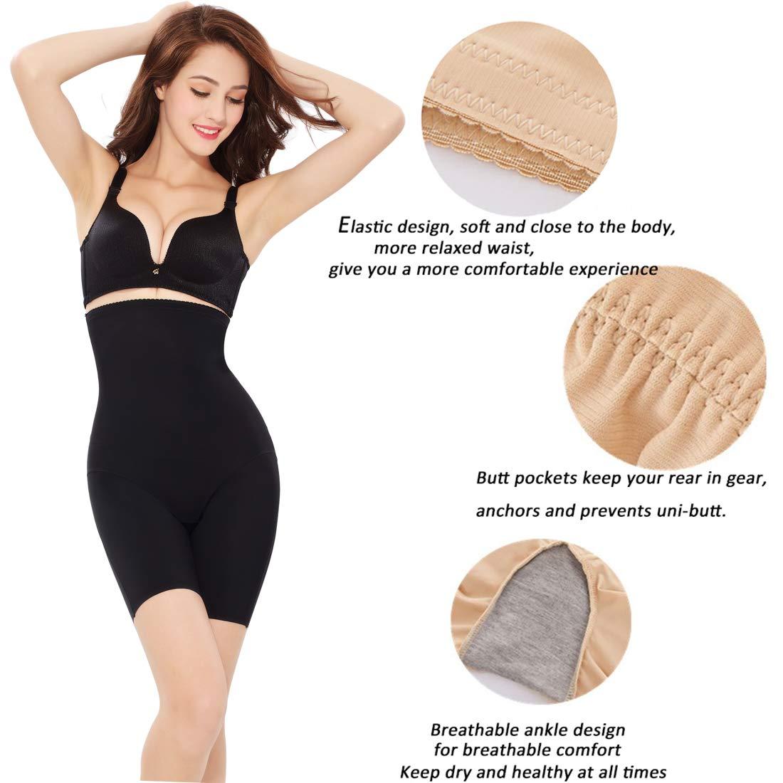 Leotruny Women Shapewear High Waist Seamless Tummy Control Butt Lifter Panty Thing Slimmer