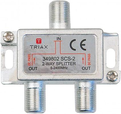 SCHWAIGER -9505- Distributore SAT 4 volte digitale distributore satellitare a 4 vie splitter SAT 5-2400 MHz DVB-S2 TV via cavo distributore a 4 vie con passaggio cavi per SAT TV
